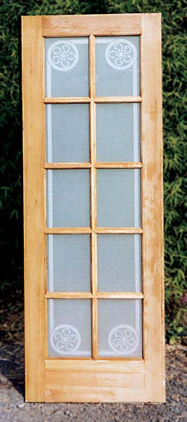 Frosted Patterned Privacy Door architectural glass by Cynthia Myers