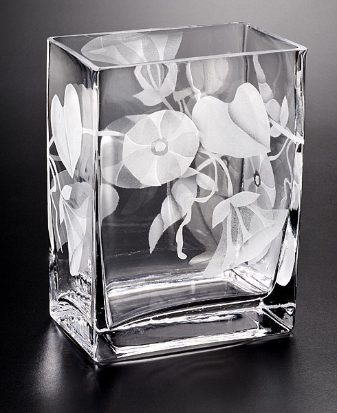 Morning Glory (clear) glass by Cynthia Myers ***