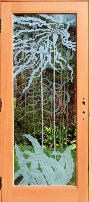 Bull Kelp Door architectural glass by Cynthia Myers