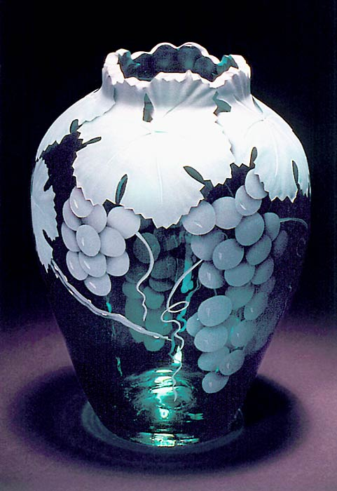 Grapes art glass by Cynthia Myers