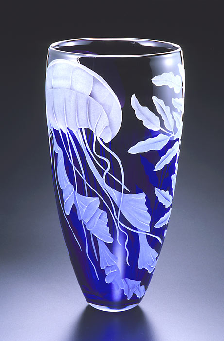 Jellyfish art glass by Cynthia Myers