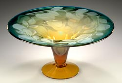 Edible Pear Compote SOLD OUT glass art by Cynthia Myers