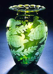 Sea Turtles glass art by Cynthia Myers
