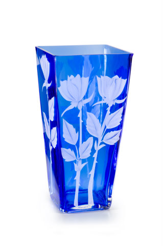 tall rose buds  glass by Cynthia Myers