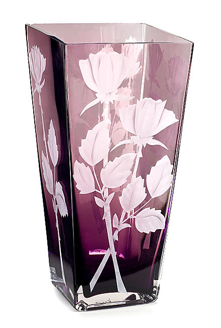 Tall Roses  glass by Cynthia Myers