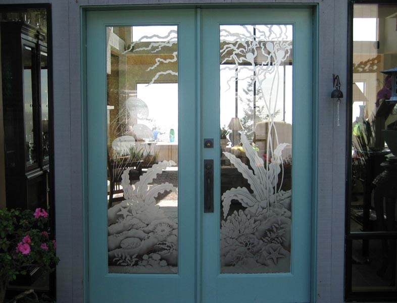 Sea Door architectural glass by Cynthia Myers