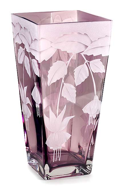 Fuchsias in Full Bloom  glass by Cynthia Myers