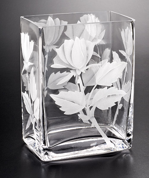 Rose Buds  glass by Cynthia Myers