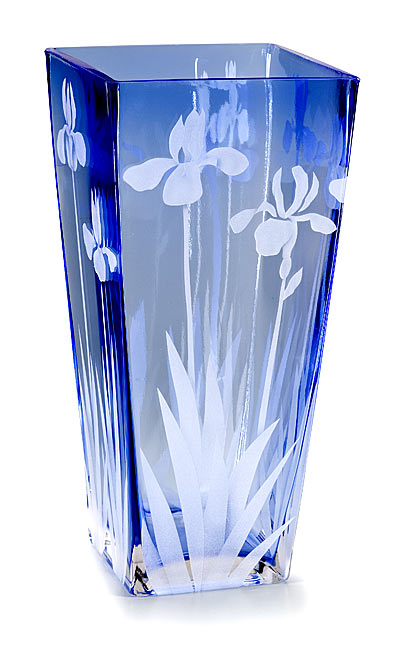 Tall Wild Coastal Iris  glass by Cynthia Myers