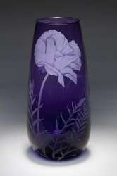 Purple Poppy SOLD OUT glass art by Cynthia Myers