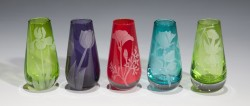 Assorted Bud Vase Set of 5 glass art by cynthia myers