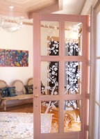 Dogwood Custom Door glass art by Cynthia Myers