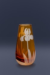 Iris bud vase glass art by cynthia myers