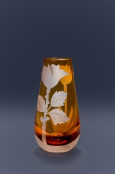 Rose bud vase glass art by cynthia myers